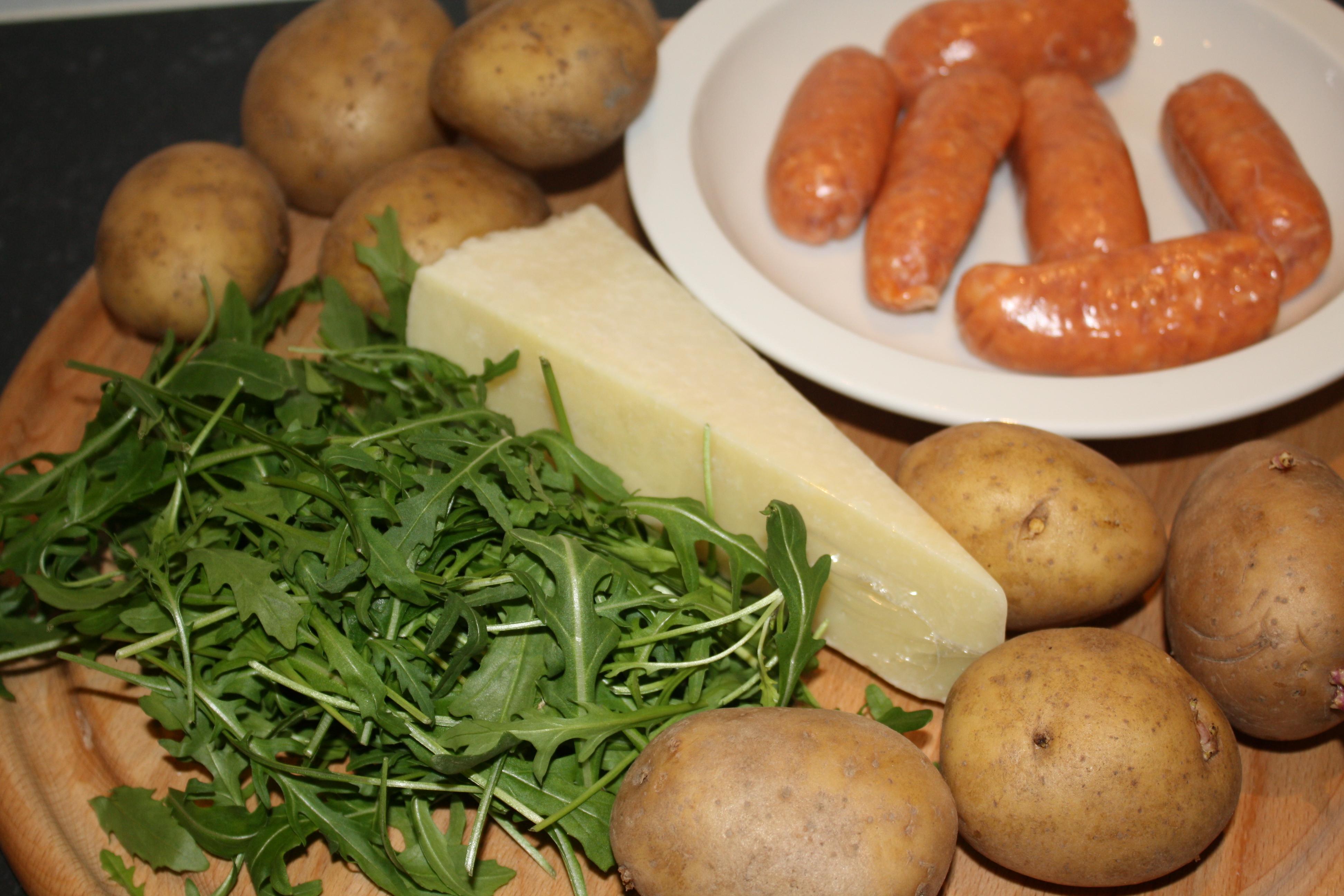 ingrediënten Hedies rucola stamppotje met catalaanse worstjes