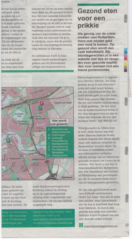Bijstandsgerechten_Stadskrant Rotterdam_Havenloods_juli 2014
